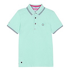 Baker by Ted Baker - 'Boys' pale green tipped polo shirt