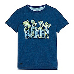 Baker by Ted Baker - Boys' navy palm tree print t-shirt