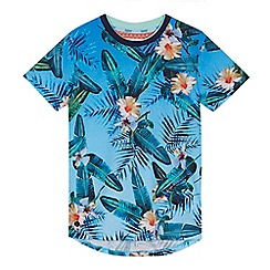 Baker by Ted Baker - Boys' multi-coloured tropical print t-shirt