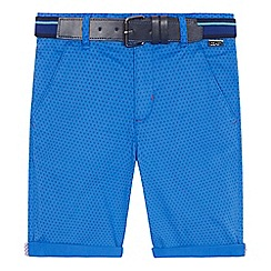 Baker by Ted Baker - 'Boys' blue printed chino shorts