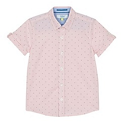 Baker by Ted Baker - 'Boys' pink geometric print short sleeve shirt