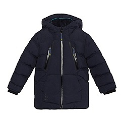 Baker by Ted Baker - Boys' navy padded showerproof coat