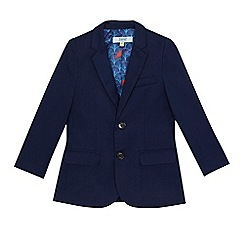 Baker by Ted Baker - 'Boys' navy herringbone textured jacket