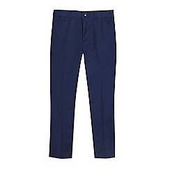 Baker by Ted Baker - 'Boys' navy herringbone textured trousers