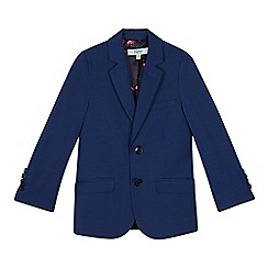 Baker by Ted Baker - Boys' navy herringbone textured jacket