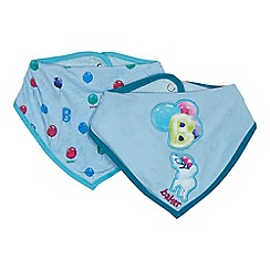Baker by Ted Baker - Pack of two baby boys' blue balloon print bibs