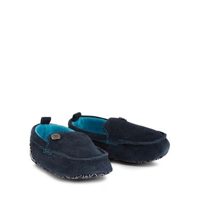 1cdc2c969b8a Baker by Ted Baker - Baby boys  navy suede booties