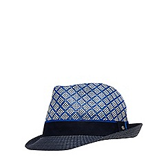 Baker by Ted Baker - 'Boys' navy geometric straw trilby hat