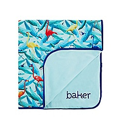 Baker by Ted Baker - 'Baby boys' multi-coloured flamingo print blanket