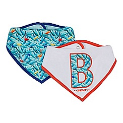 Baker by Ted Baker - 'Set of 2 baby boys' assorted patterned bibs
