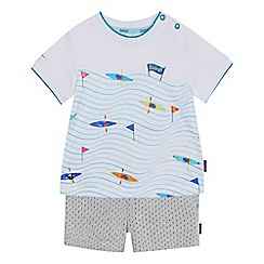 Baker by Ted Baker - Baby boys' multi-coloured canoe print t-shirt and shorts set