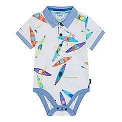 Baker by Ted Baker - 'Baby boys' multi-coloured canoe print bodysuit