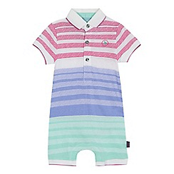 37d2fab48dc27 Baker by Ted Baker -  Baby boys  multi-coloured textured striped short  sleeve