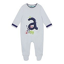 Baker by Ted Baker - Baby Boys' Light Blue 'A' Sleepsuit