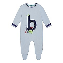 Baker by Ted Baker - Baby Boys' Light Blue 'B' Sleepsuit