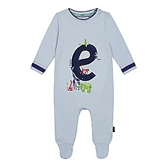 Baker by Ted Baker - Baby Boys' Light Blue 'E' Sleepsuit
