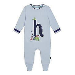 Baker by Ted Baker - Baby Boys' Light Blue 'H' Sleepsuit