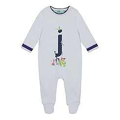Baker by Ted Baker - Baby Boys' Light Blue 'J' Sleepsuit