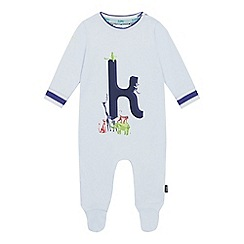 Baker by Ted Baker - Baby Boys' Light Blue 'K' Sleepsuit