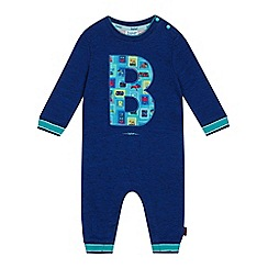 Baker by Ted Baker - Baby boys' blue B applique sleepsuit