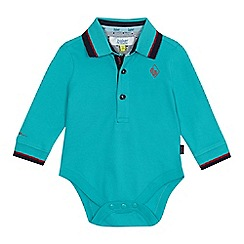 Baker by Ted Baker - 'Baby boys' light green polo bodysuit