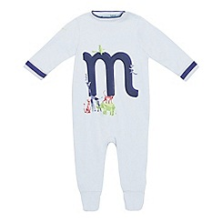 Baker by Ted Baker - Baby boys' light blue 'm' sleepsuit