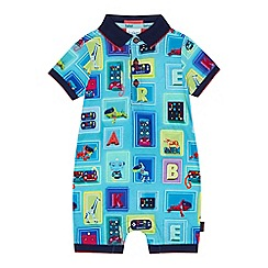 Baker by Ted Baker - 'Baby boys' multi-coloured box print short sleeve romper suit