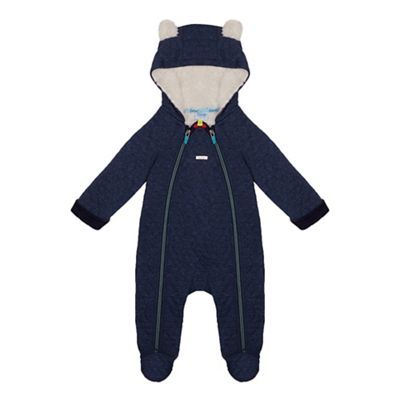 9460072c3d192e Baker by Ted Baker - Baby boys  navy quilted sleepsuit