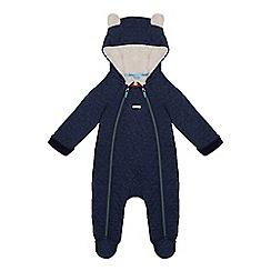 Baker by Ted Baker - Baby boys' navy quilted sleepsuit