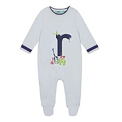 Baker by Ted Baker - Baby Boys' Light Blue 'R' Sleepsuit