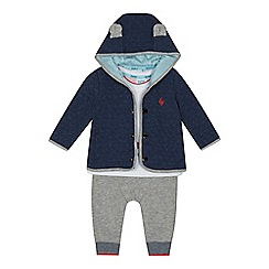 Baker by Ted Baker - Baby boys' multicoloured quilted sweater, t-shirt and bottoms set