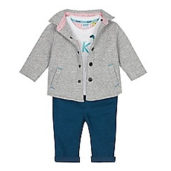 Baker by Ted Baker - Baby boys' assorted jacket, embroidered logo T-shirt and trousers set