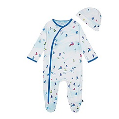 Baker by Ted Baker - Baby boys' light blue sleepsuit and hat set