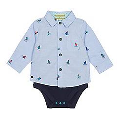 Baker by Ted Baker - Baby boys' multicoloured penguin print shirt bodysuit