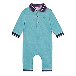 Baker by Ted Baker - Baby Boys' Tipped Polo Romper Suit