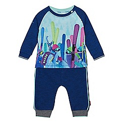 Baker by Ted Baker - Baby boys' blue penguin print top and bottoms set