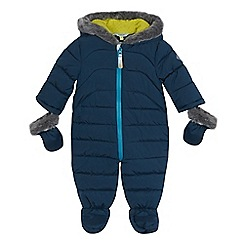 Baker by Ted Baker - Baby boys' dark green padded shower resistant snowsuit