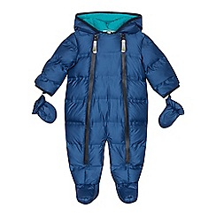 Baker by Ted Baker - Babies' blue padded shower resistant snowsuit