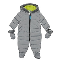 Baker by Ted Baker - Baby boys' grey padded shower resistant snowsuit