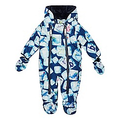 Baker by Ted Baker - Babies' Multicoloured Ice Cube Print Padded Shower Resistant Snowsuit