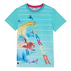 Baker by Ted Baker - Boys' green animal print t-shirt