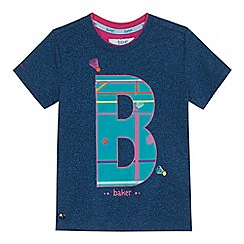 Baker by Ted Baker - 'Boys' blue logo print t-shirt