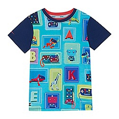 Baker by Ted Baker - Boys' multi-coloured box print t-shirt