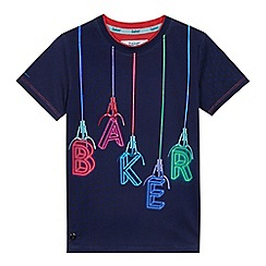 Baker by Ted Baker - Boys' navy graphic logo print t-shirt