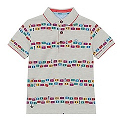 Baker by Ted Baker - Boys' grey car print polo shirt