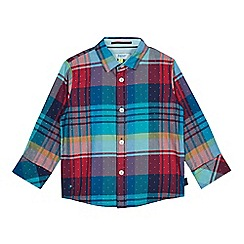 Baker by Ted Baker - Boys' multicoloured checked long sleeve shirt