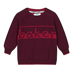 Baker by Ted Baker - Boys' plum logo jumper with wool