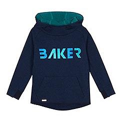 Baker by Ted Baker - Boys Blue Foil PrintLogo Hoodie