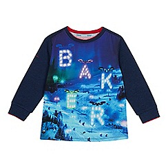 6f438e627 Baker by Ted Baker - Boys  navy drone print top