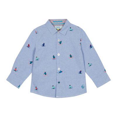 36b76f50c98e2 Baker by Ted Baker - Boys  Multicoloured Penguin Print Long Sleeve Shirt